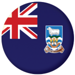 Falkland Islands Flag 58mm Button Badge